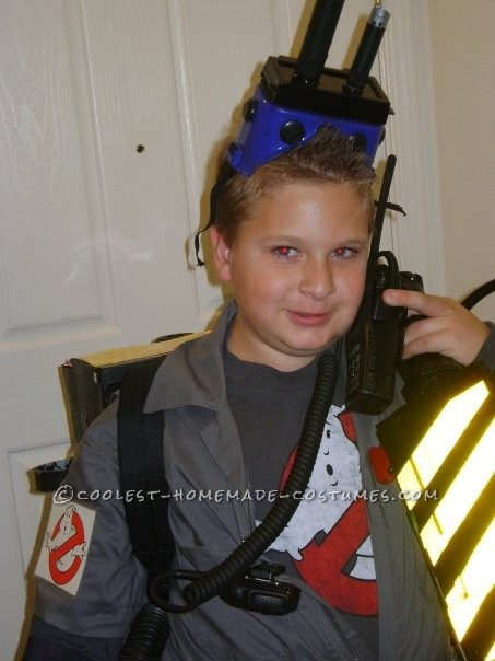 Great Ghostbuster Costume Made From Things Around the House - 5