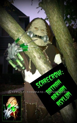 Original Glowing Scarecrow Costume from Batman Arkum Asylum