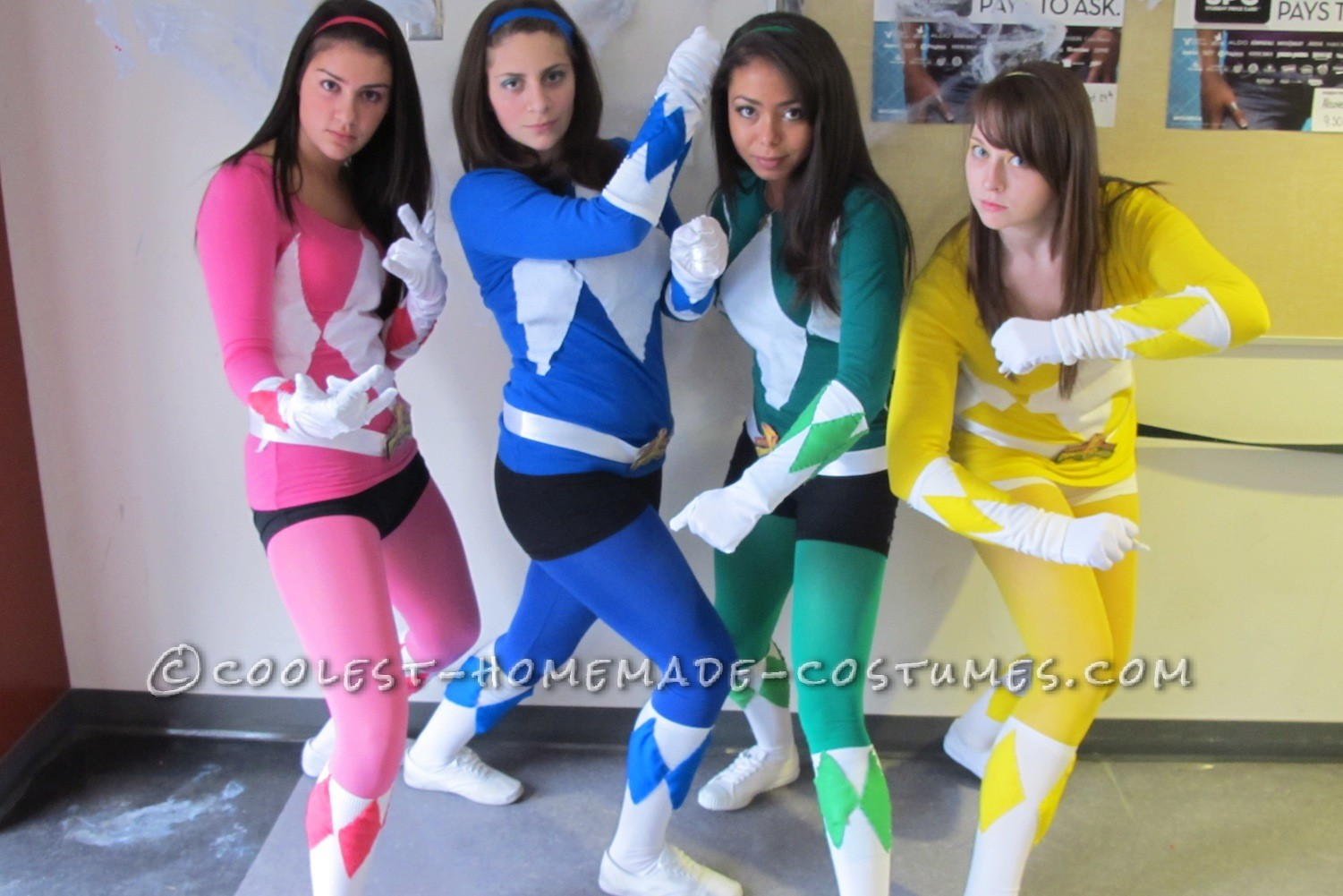 Awesome Go Go Power Rangers Group Costume