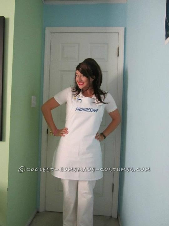 This was my Flo the Progressive girl costume from last year! I had such a fun time being her.  I found the white pants and polo at a th