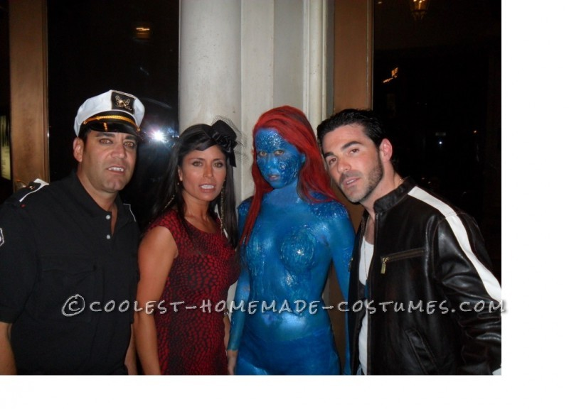 Last year I decided to be Mystique from X-Men. I didn't just want to paint myself blue and wear a bikini though. I wanted to be HARD CORE and make p
