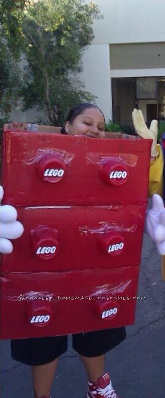 Homemade Giant LEGO Costume
