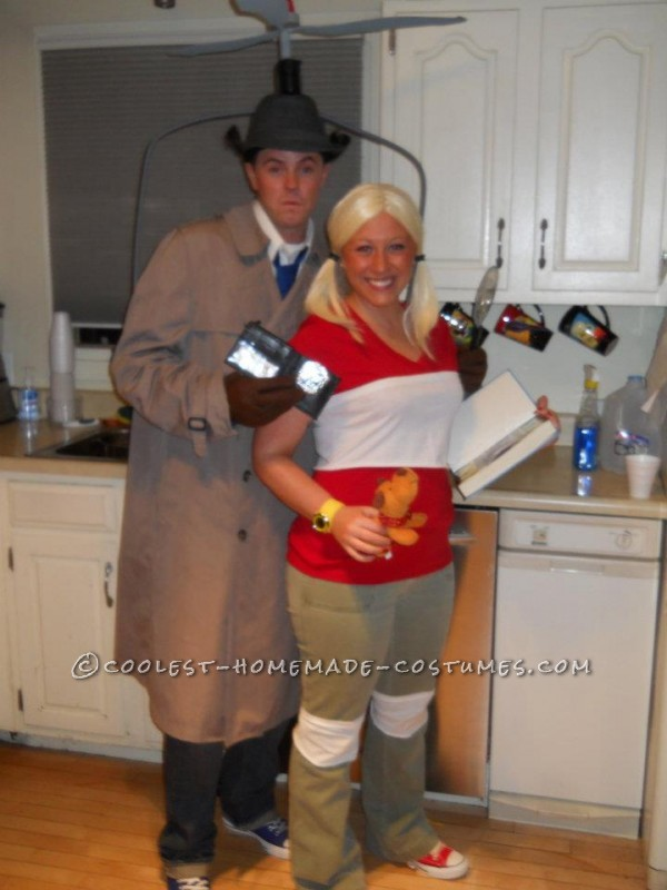 Original Homemade Inspector Gadget and Penny Couple Costumes