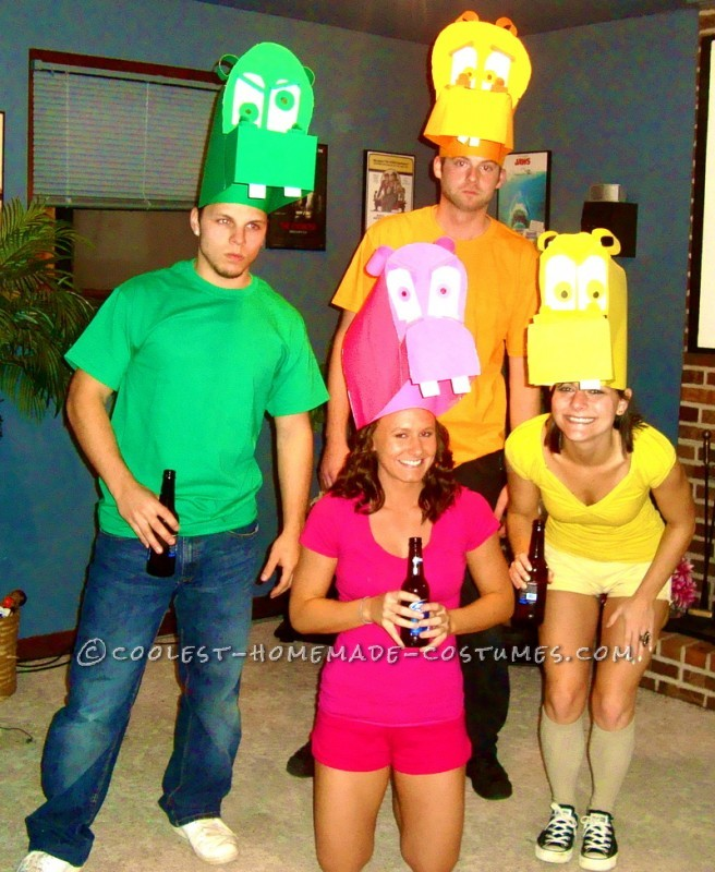 Awesome Hungry Hungry Hippos Group Costume