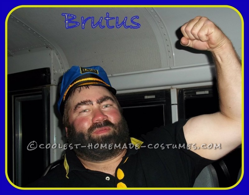 My husband was not going to dress up for a 50th bday party on a party bus Themed of Cartoon Bus.Everyone was dressing as a Cartoon Character. I