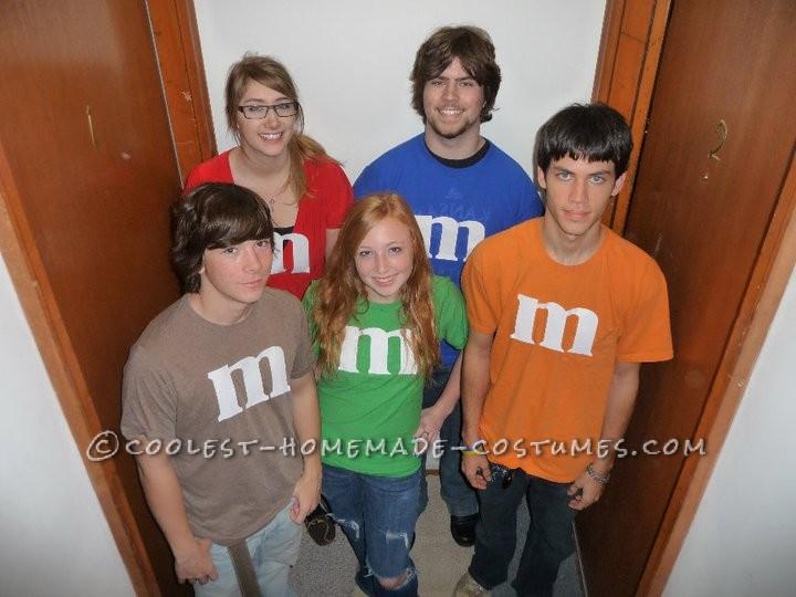 Last Minute M&M's Group Costume