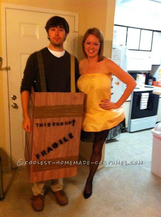 Leg Lamp and Fragile Box Couple Costume from A Christmas Story