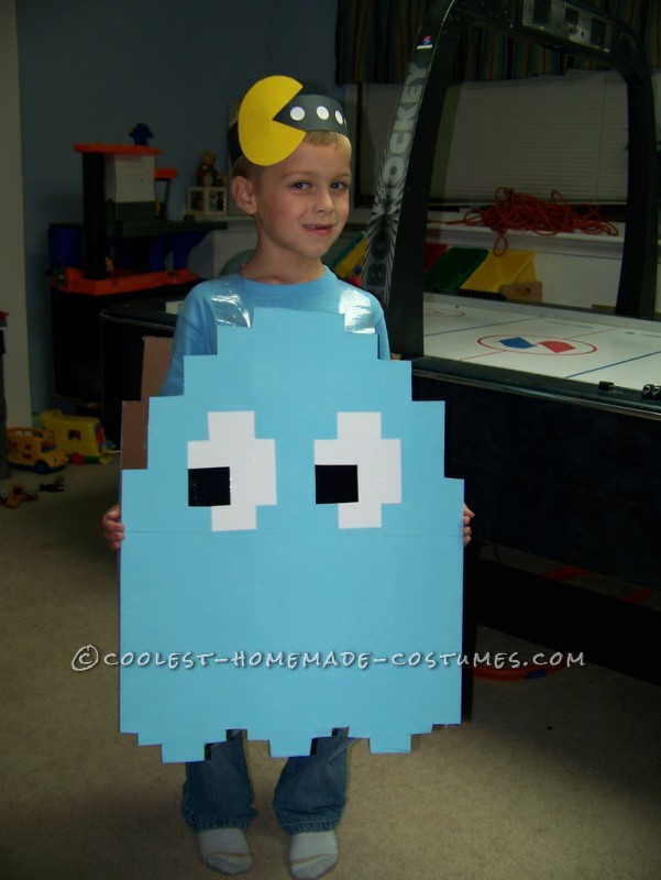 Coolest Light Blue Pac Man Ghost Halloween Costume