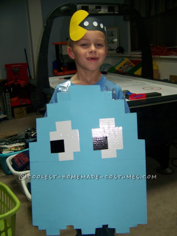 Coolest Light Blue Pac Man Ghost Halloween Costume - 1