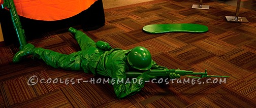Awesome Homemade Little Green Plastic Army Man Costume - 1