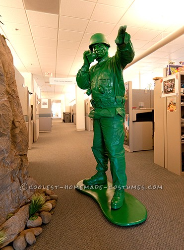 Awesome Homemade Little Green Plastic Army Man Costume - 2