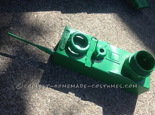 Awesome Homemade Little Green Plastic Army Man Costume - 4