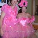 Coolest No-Sew Flock of Flamingos Couple Costume