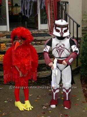 Last-Minute No-Sew Red Bird Costume
