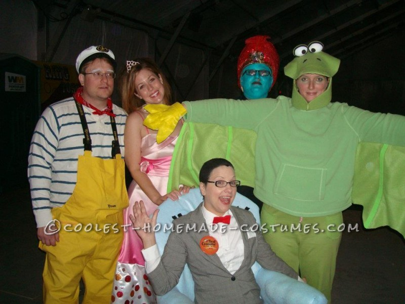 This one was so fun! We had Pee Wee, Ms. Yvonne, the Geenie, Terri the Terridactyl, Captain, Carl, and the Cowboy- comeplete with CHAIRY!! &nbs