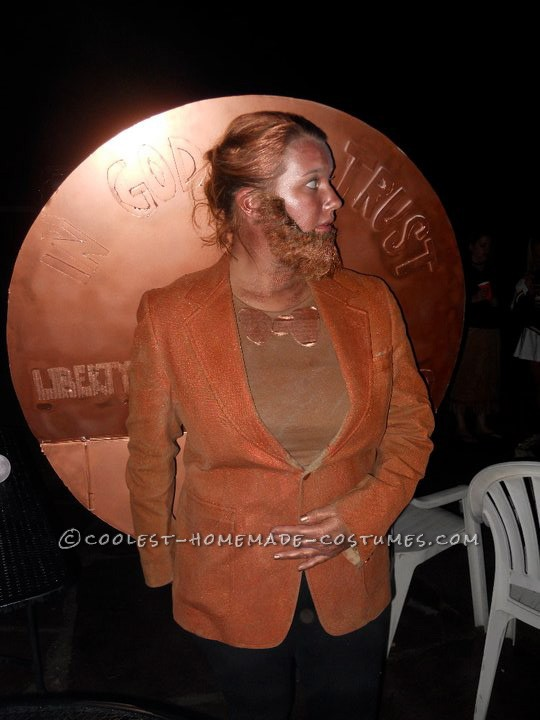 Coolest Abe Lincoln Penny for Your Thoughts Costume