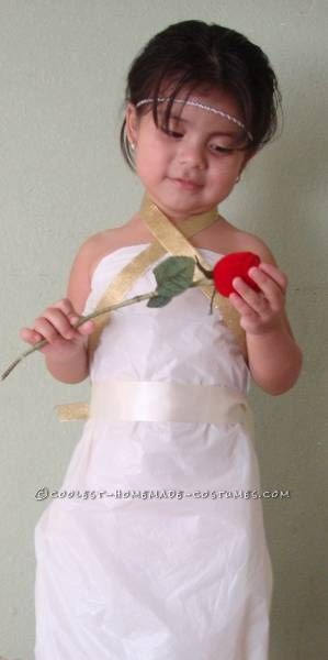 I made my 3yrs. old the Goddess Costume,  It took me less than an hour to do it. It is so easy to make. I gather all  the materials for it