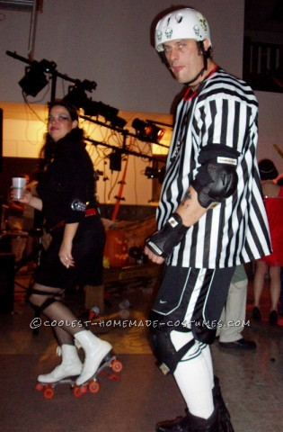 Our 2006 costume may be my all time favorite! We went as Roller Derby girls with a ref! Let me first say this...know both where you are going and wha