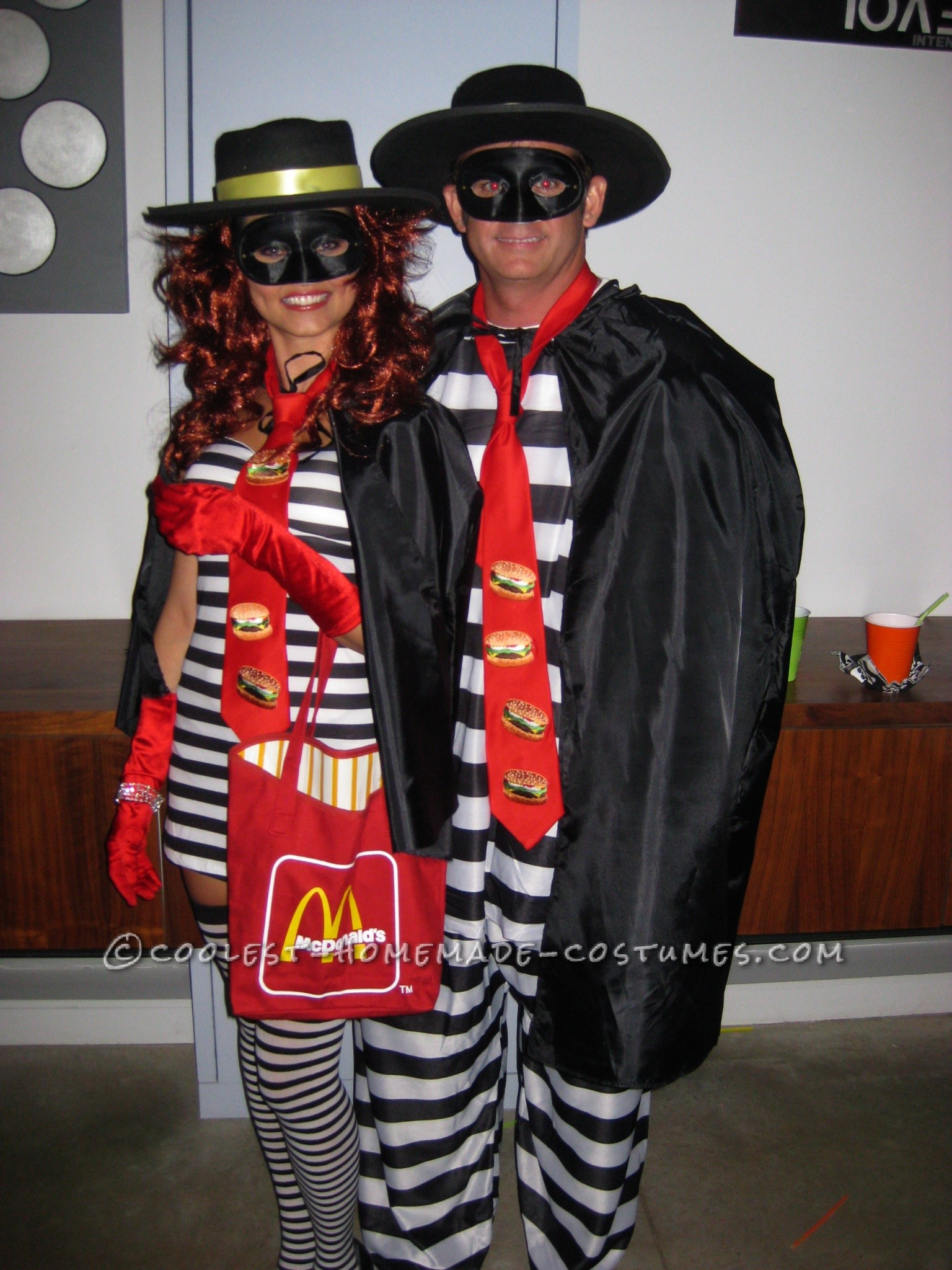 sexy and cool hamburglar couple costume