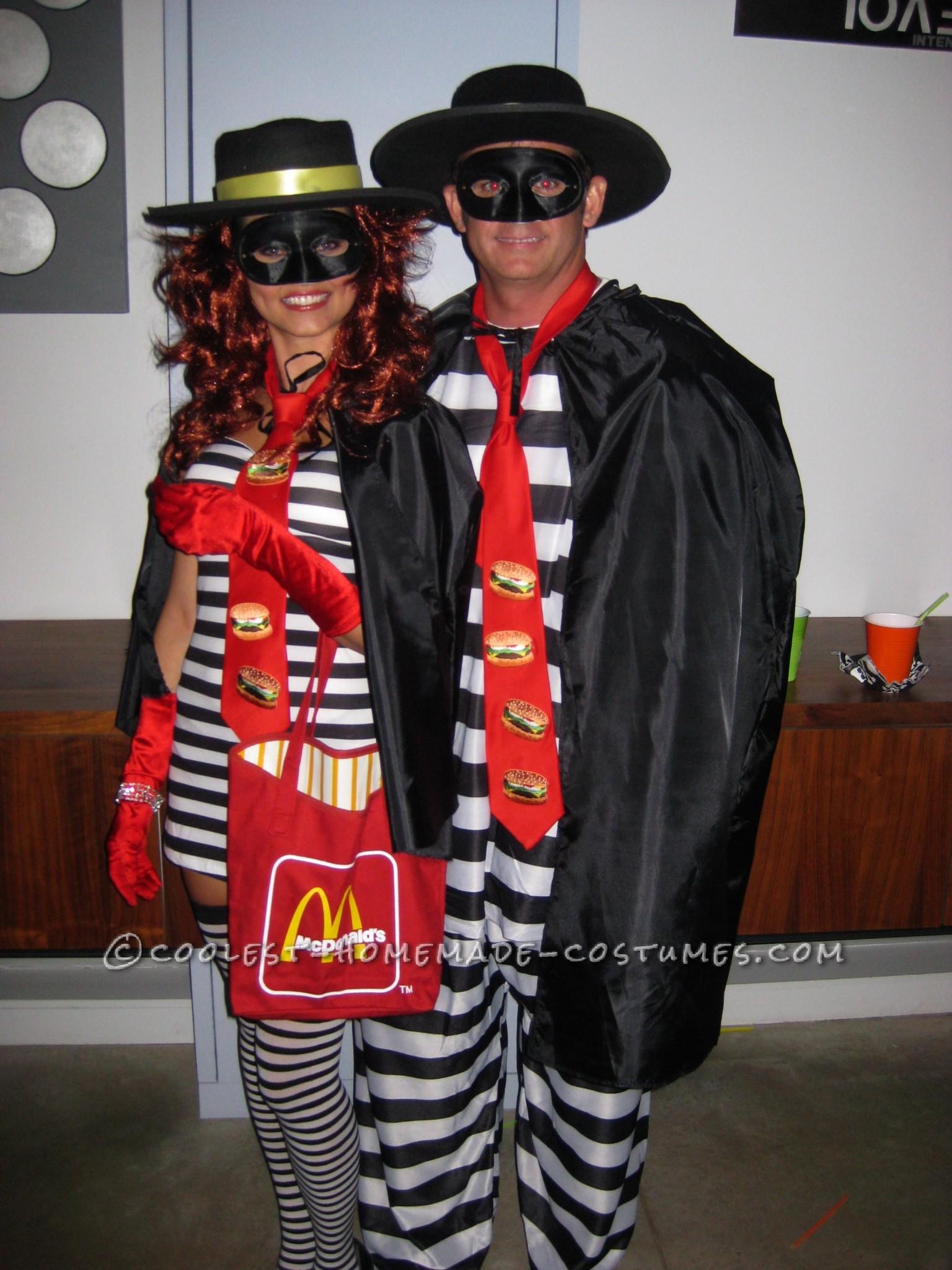 Sexy and Cool Hamburglar Couple Costume