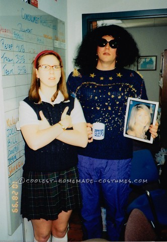 My boss and I dressed up as Saturday Night Live characters for Halloween one year. I was Mary Kathern Gallagher & he was the Coffee Talk lady.