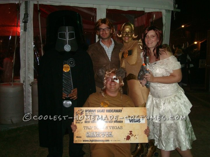 Its the whole gang- Dot was even on gold roller skates allnight! Such a fun group costume, but