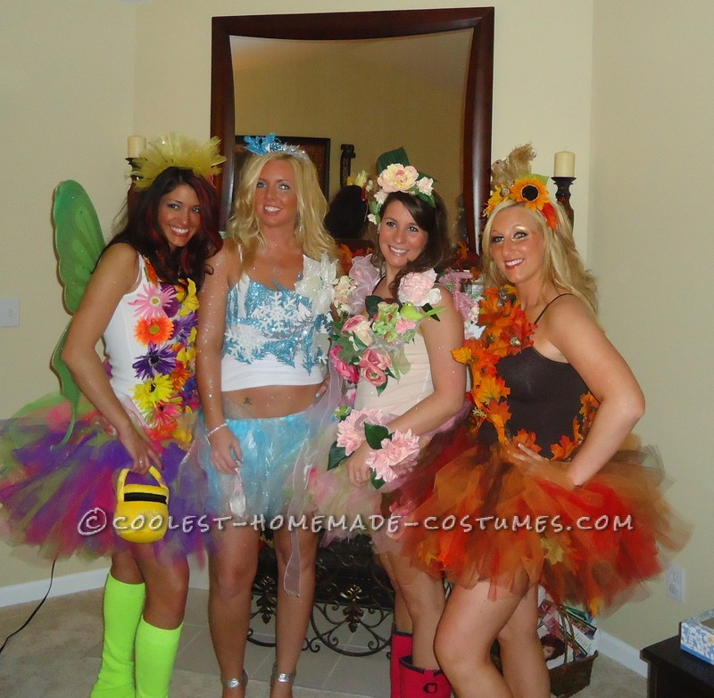 The Four Seasons Girl's Group Costume