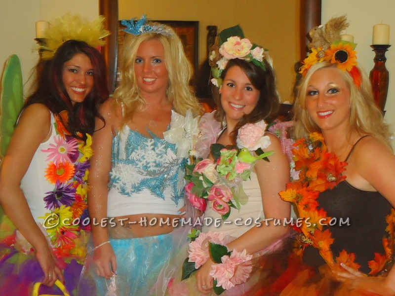 The Four Seasons Girl's Group Costume - 1