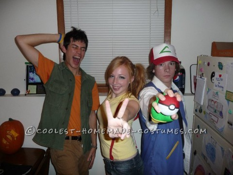Growing up in the 90\'s, pokemon was a BIG deal! We were so excited when we decided to dress up as Ash, Brock, and Misty! The Misty and Brock costu