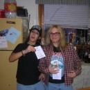 We went all out to create the most authentic wayne's world costumes. we bought reverse-fit jeans from walmart (tighter around the ankle, loose and r