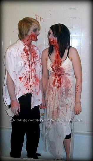 Last-Minute Wedding Zombies Halloween Couple Costume