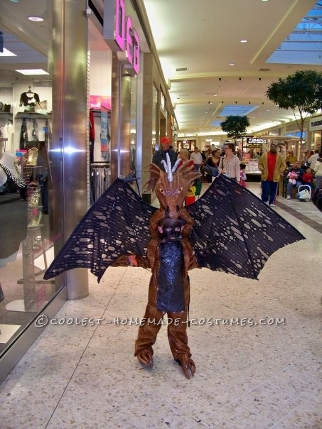 My five year old son was very excited about being a dragon this year. The Homemade Dragon Boy Costume did not appear to be complicated until we got s