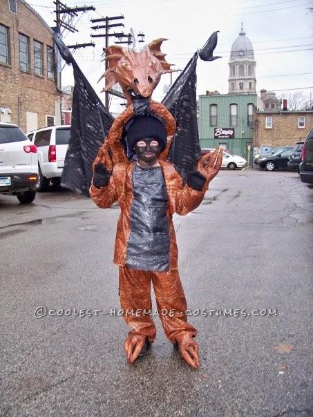 Original Homemade Winged Dragon Halloween Costume - 1