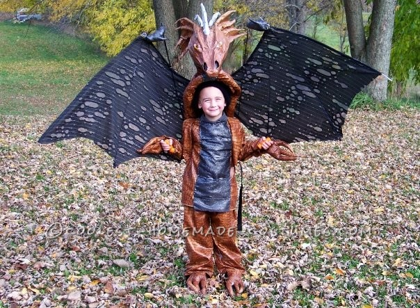 Original Homemade Winged Dragon Halloween Costume