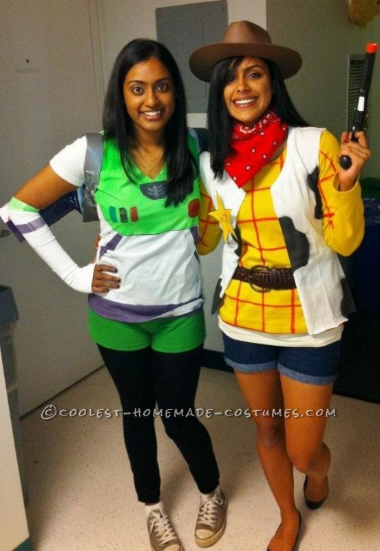 The costumes were actually very simple to make and turned out to be very cheap as well! Buzz: For Buzz, the clothing I needed was a pla
