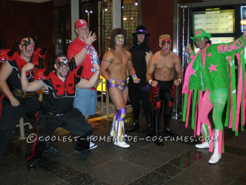 Coolest WWF Stars of Past and Present Group Costume