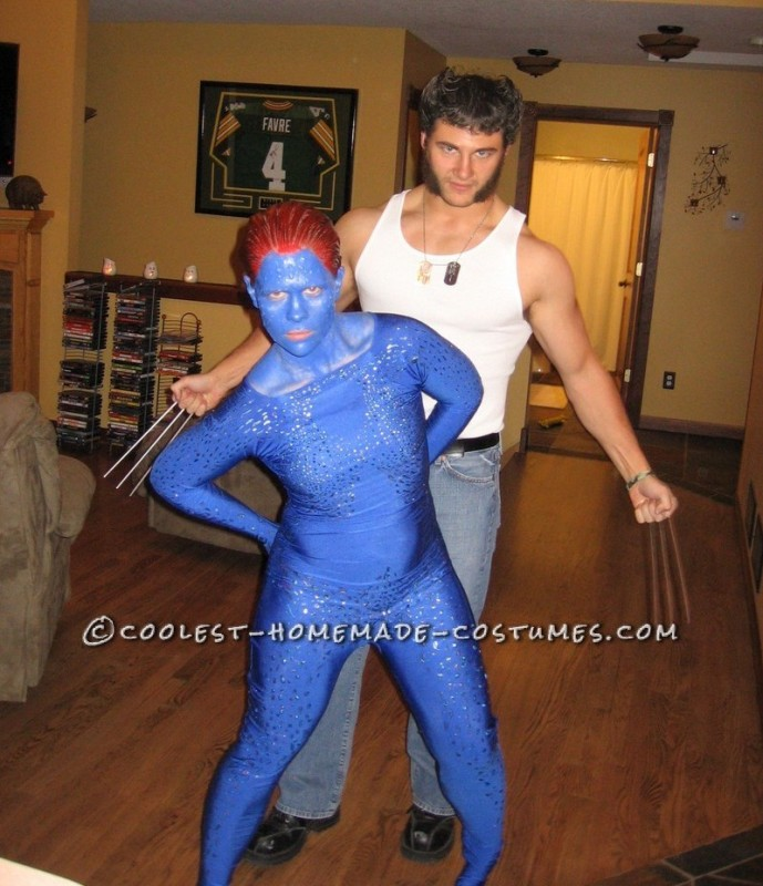 X- Men Costumes: Wolverine and Mystique