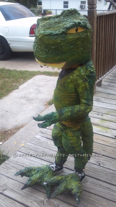 My son Joey is Five years old and he LOVES dinosaurs. He wanted to be a T rex this halloween because that is his favorite dinosaur of them all.