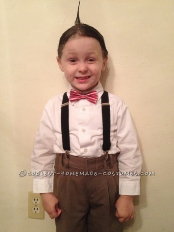 Simple but unique, Joey was actually the one to convince me that he should be Alfalfa for Halloween 2012. Ordering the bow tie and suspenders w