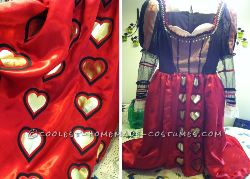 Red Queen's Dress and Vinyl Hearts