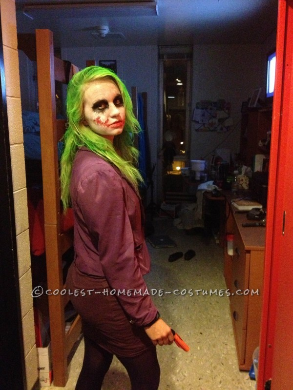 Coolest Homemade Joker Halloween Costume - 2