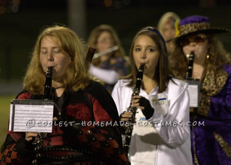 Me in the middle as Flo at my high school's Halloween football game.