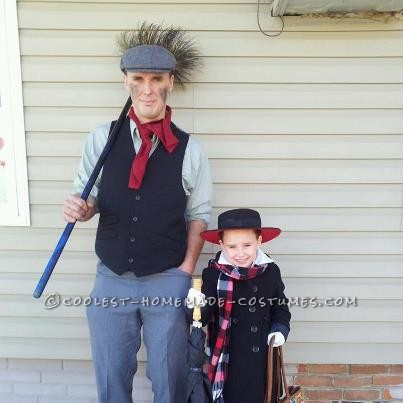 My daughter decided she wanted to be Mary Poppins this year after watching the movie so I made her and my husband's costumes by doing a lo