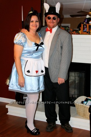 My husband and I decided to go as Alice and The White Rabbit this year. It was a bit of a last minute decision and I put these costumes together in a