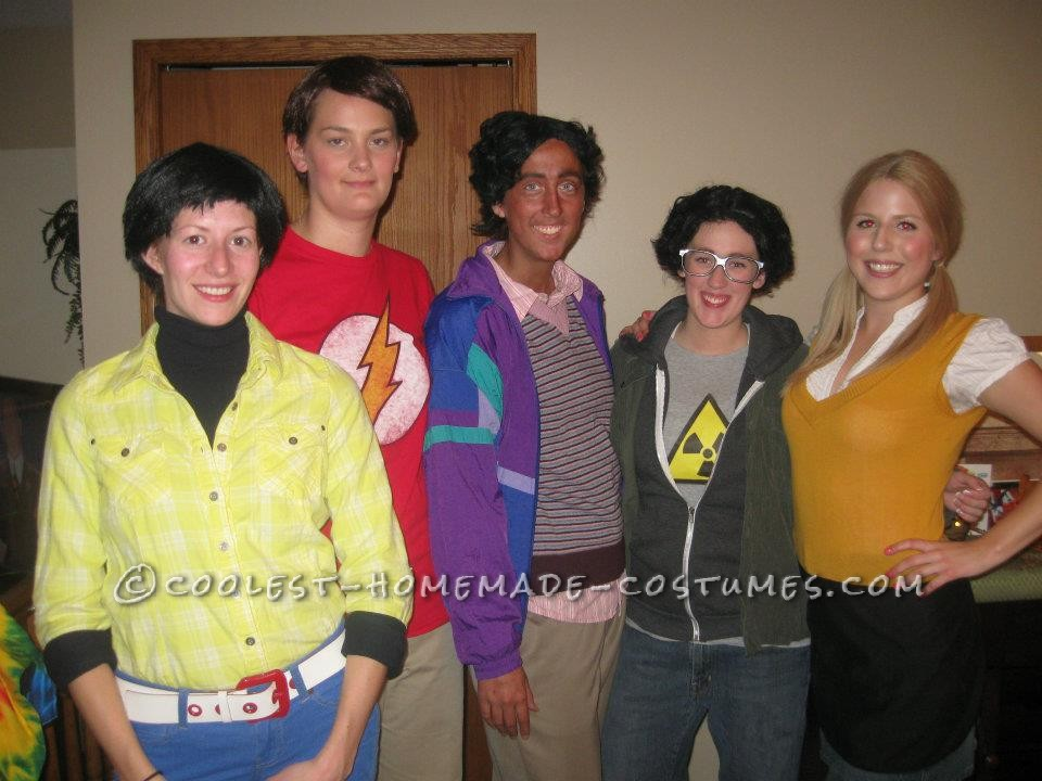 Me and my friends decided to be the Big Bang Theory for Halloween, but us all being girls it made it a lot funnier and harder. All we did was go to a