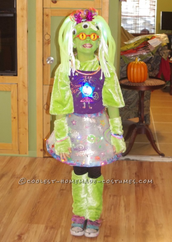 Every year for Halloween, my daughter comes up with some crazy idea of what she wants to be and it is up to me of course to make it happen. Thi