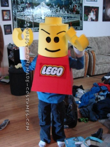 "My 8-year son has been obsessed with Legos for the past 3-4 years.  So when I asked him what he wants to be for Halloween he said ""A Lego Man"""