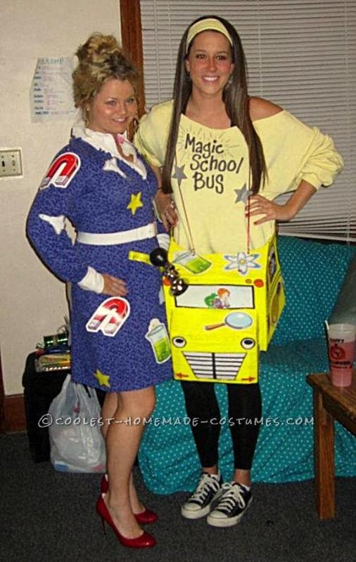 School Girl Halloween Costume College.Fun Magic School Bus And Ms Frizzle Halloween Costume
