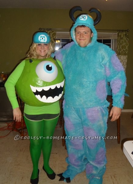 ccb76000c8ed ... Mike Wazowski Costume Step 1I purchased an exercise ball from Walmart  (75 cm wide) ...