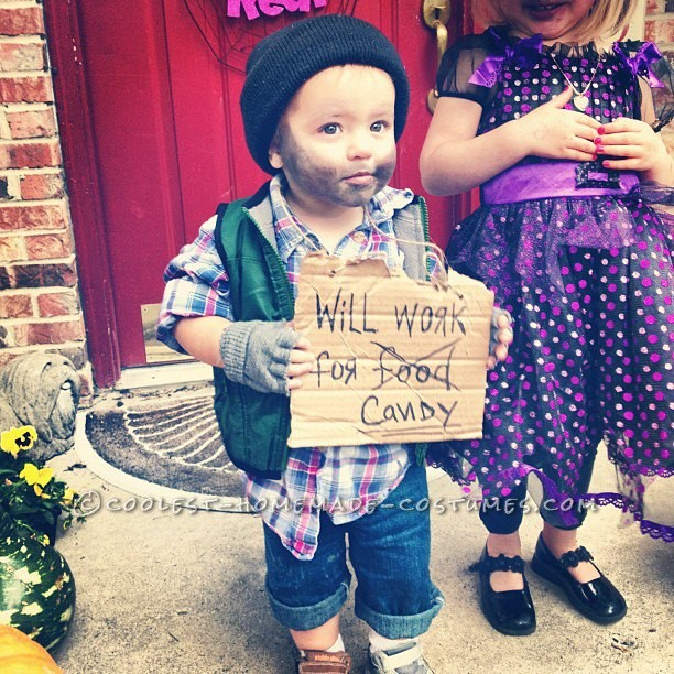 Easy, Last-Minute Toddler Costume Idea: Hobo